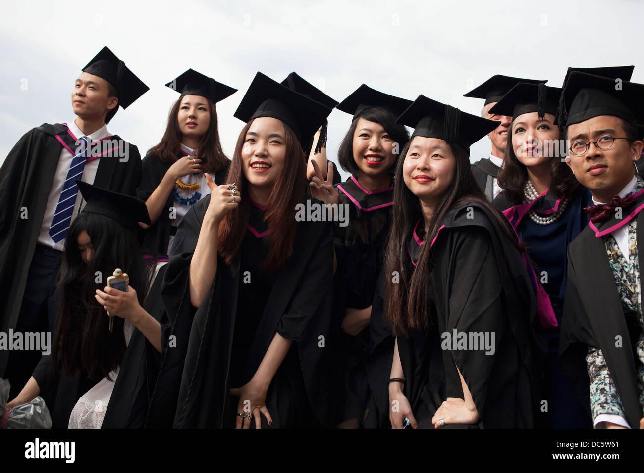 Black and asian graduates