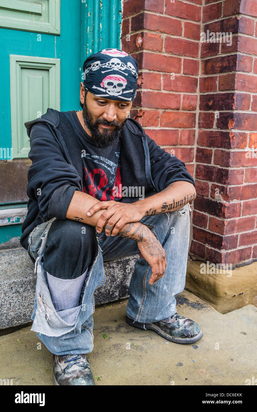 Gang member stock photos gang member stock images alamy a hispanic gang member sits on a front stoop of a house in st john buycottarizona