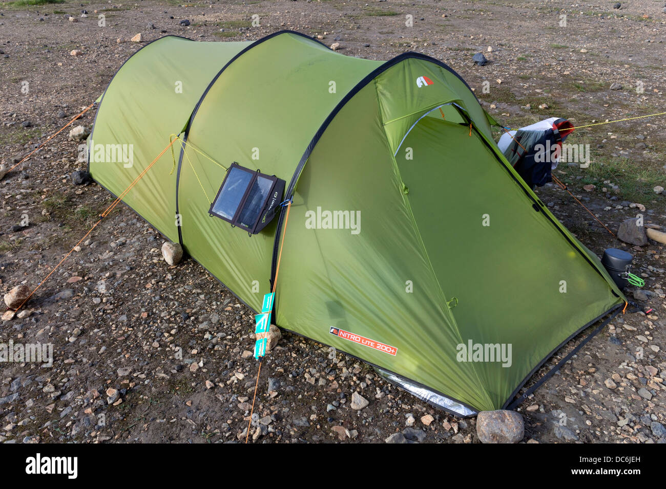 Tent with Solar Panel Attached & Tent with Solar Panel Attached Stock Photo: 59153209 - Alamy