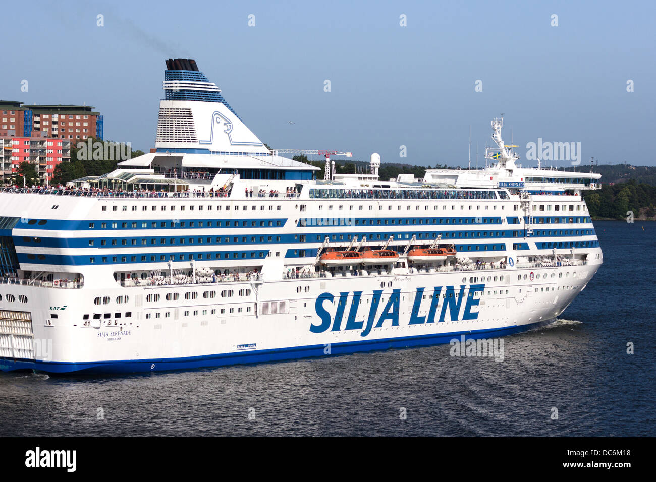M.V. Silja Serenade,Silja Line ferry, on a route connecting Stockholm Stock Photo, Royalty Free ...
