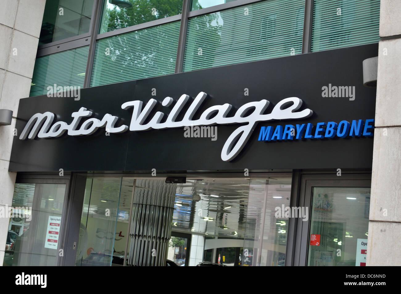 Motor Village Car Dealer Shop In Marylebone London Uk Stock