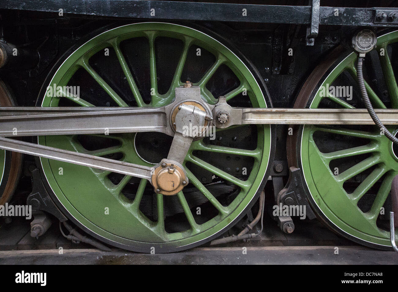 Steam Engine Wheel Driving : Driving wheels of steam locomotive stock photo royalty