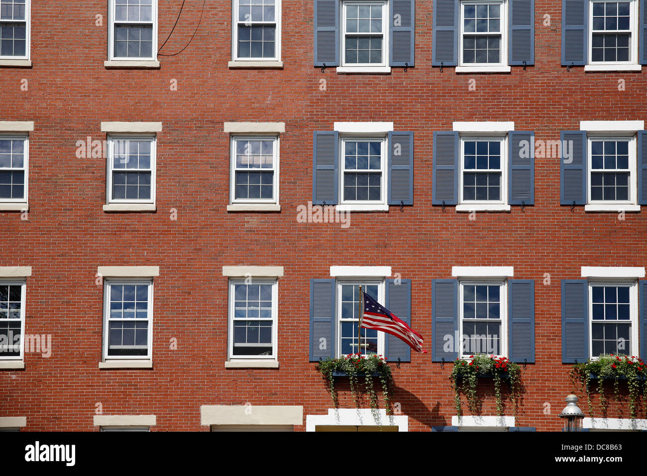 Red brick apartment buildings in the Charlestown neighborhood of ...