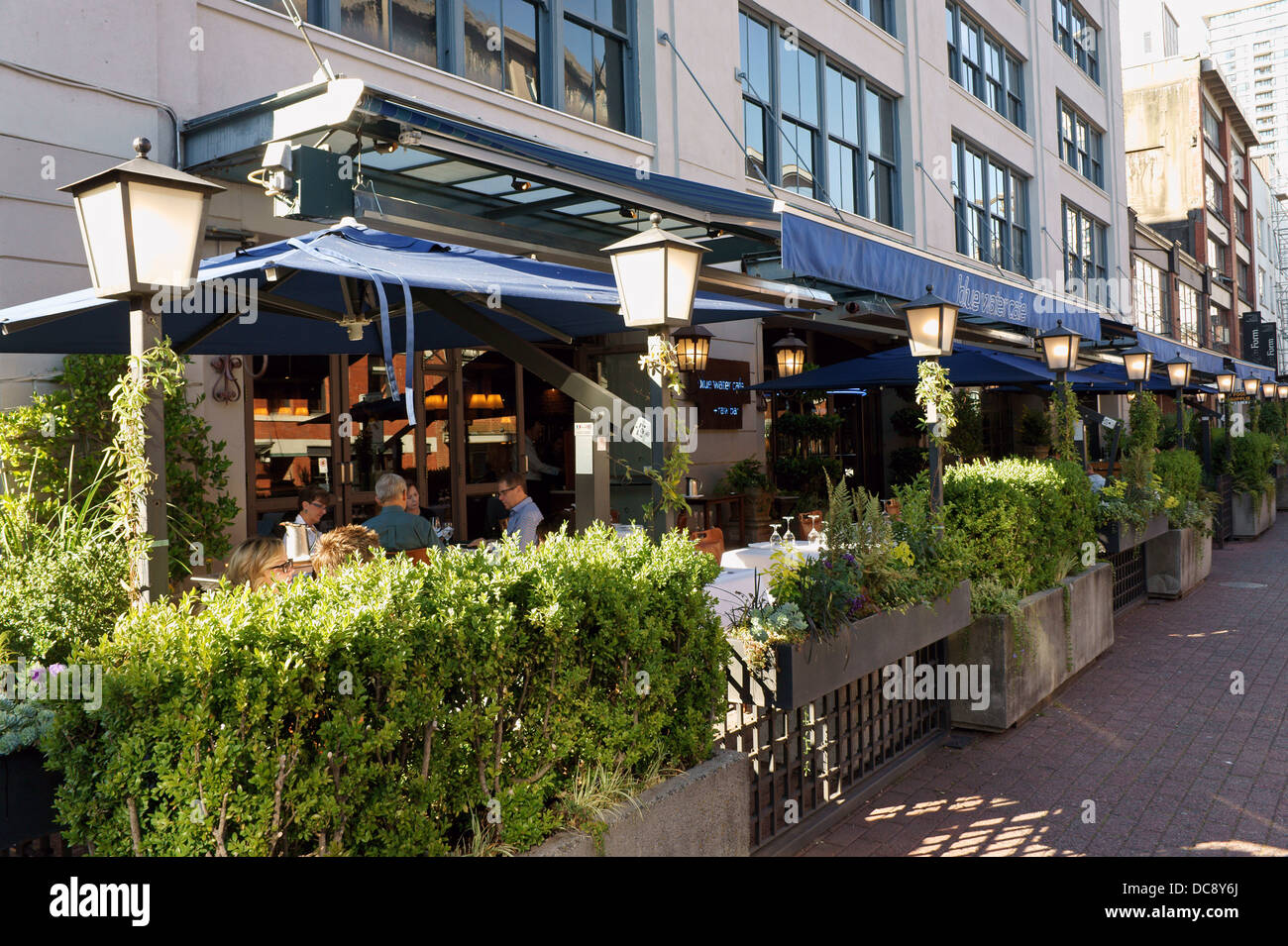 Outdoor Patio Of The Blue Water Cafe In Yaletown, Vancouver, British  Columbia, Canada Part 46