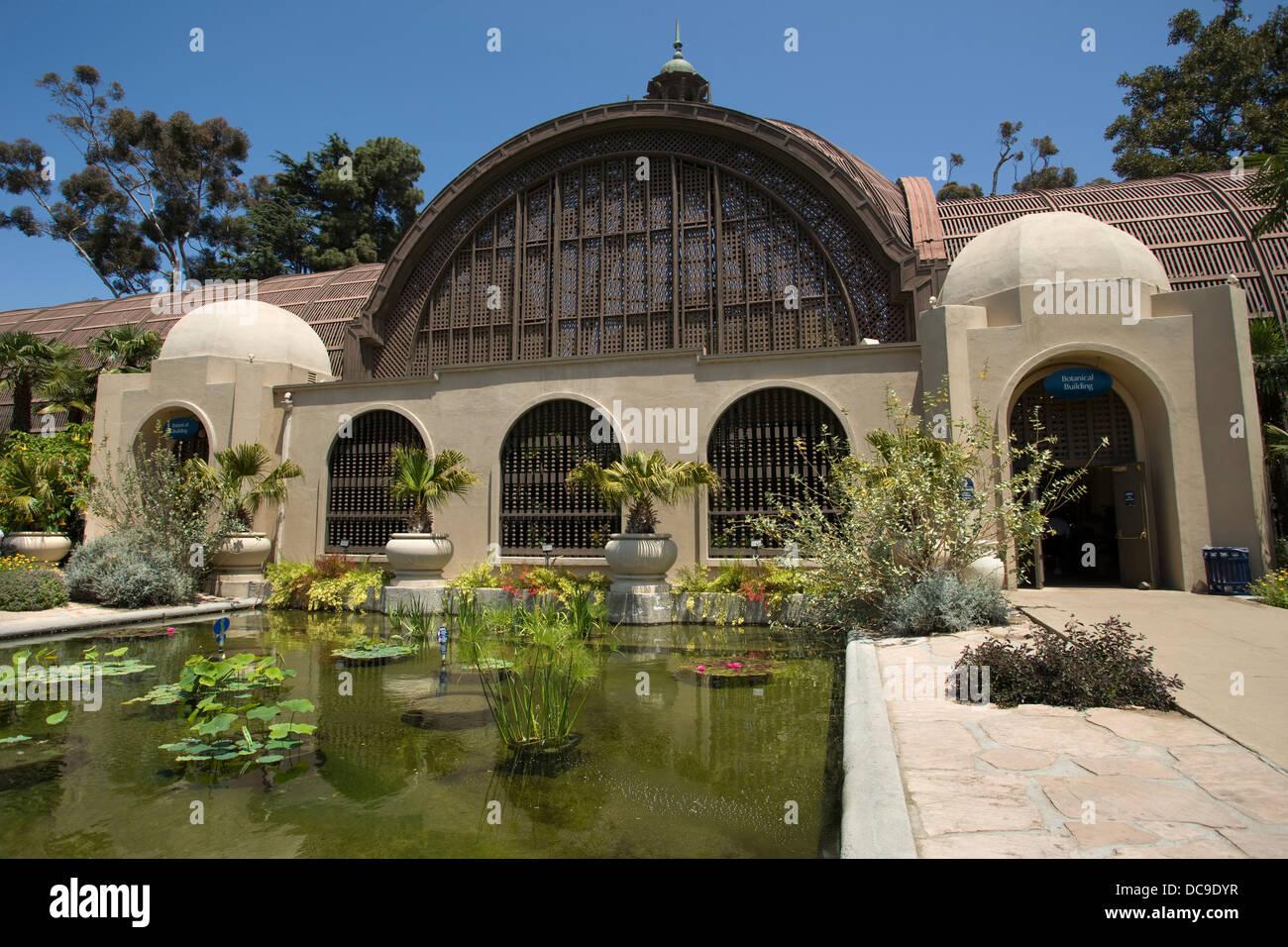 winter garden botanical house balboa park san diego california usa