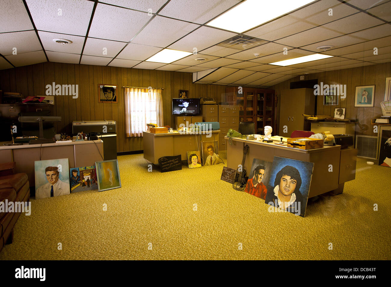 Vernon Presley's office at Graceland the home of Elvis ...