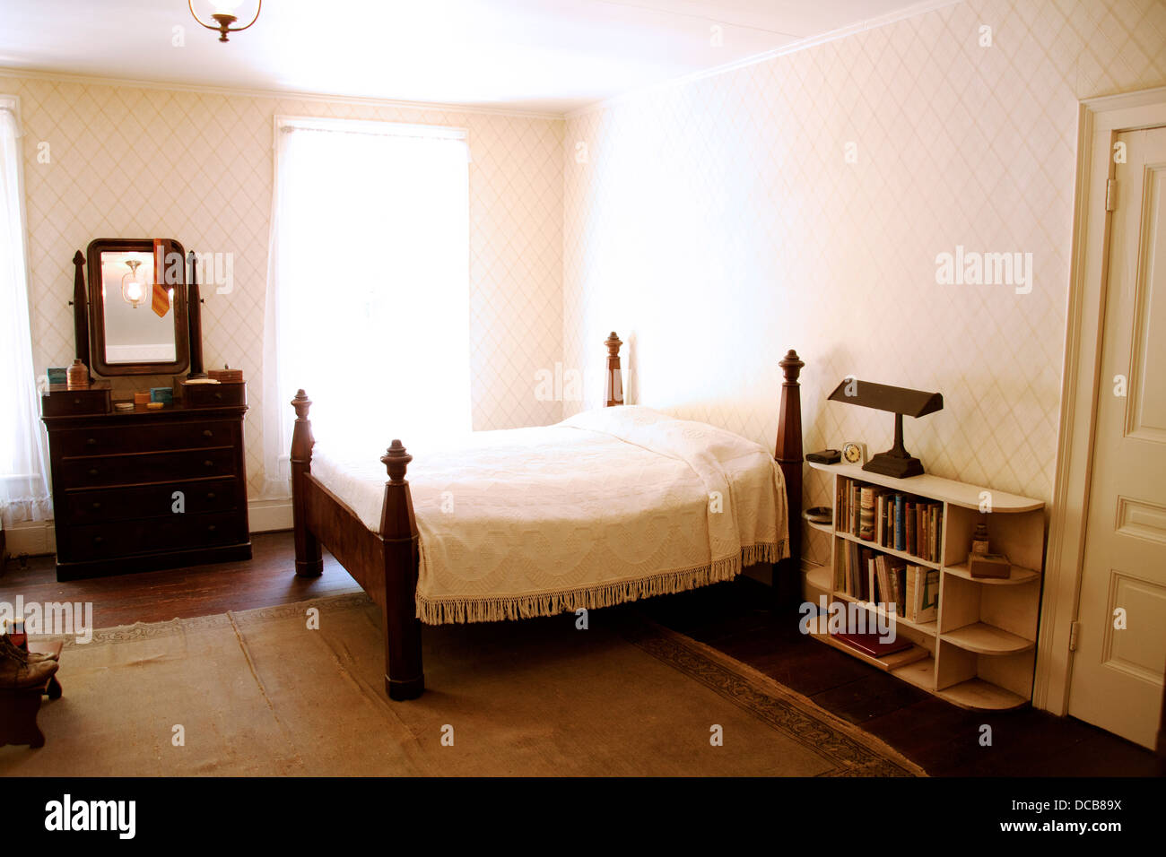 Stock Photo   The Bedroom Of William Faulkner At His Home U0027Rowan Oaku0027 In  Oxford Mississippi USA