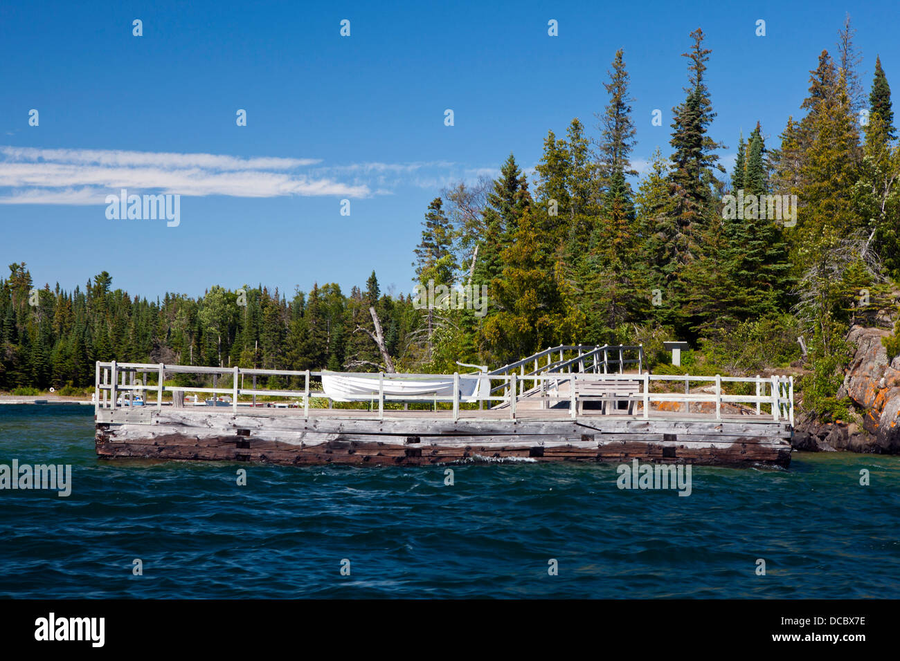 America Dock Rock Harbor Isle Royale National Park Michigan - National parks in michigan