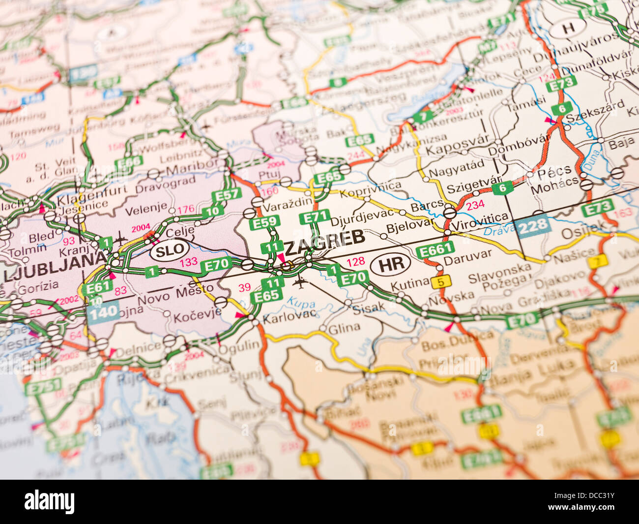 Map of Zagreb Stock Photo 59272807 Alamy