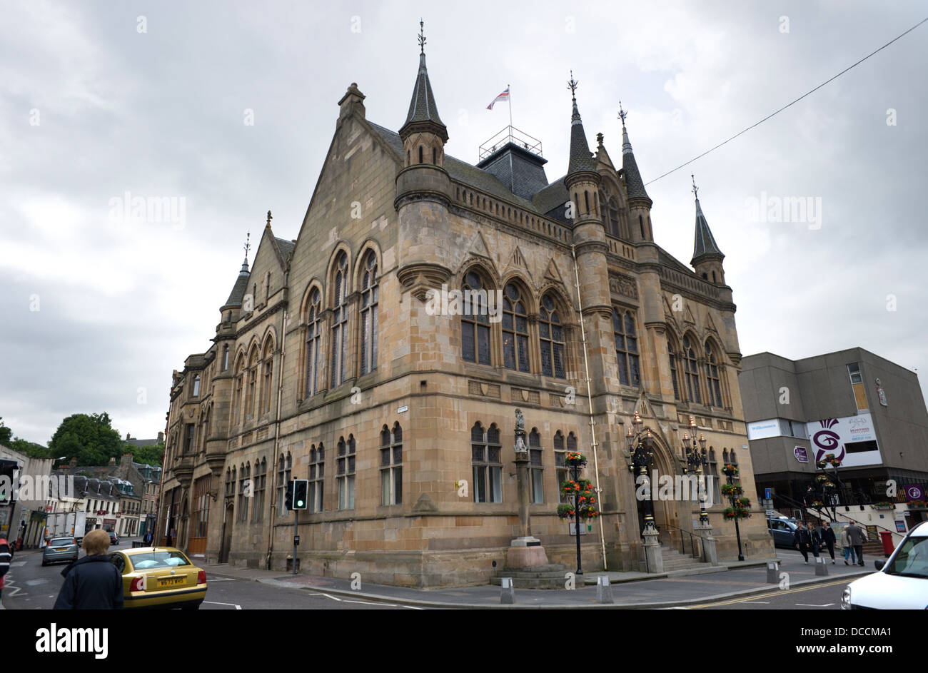 Victorian Gothic House view of the victorian gothic town house in inverness now the area