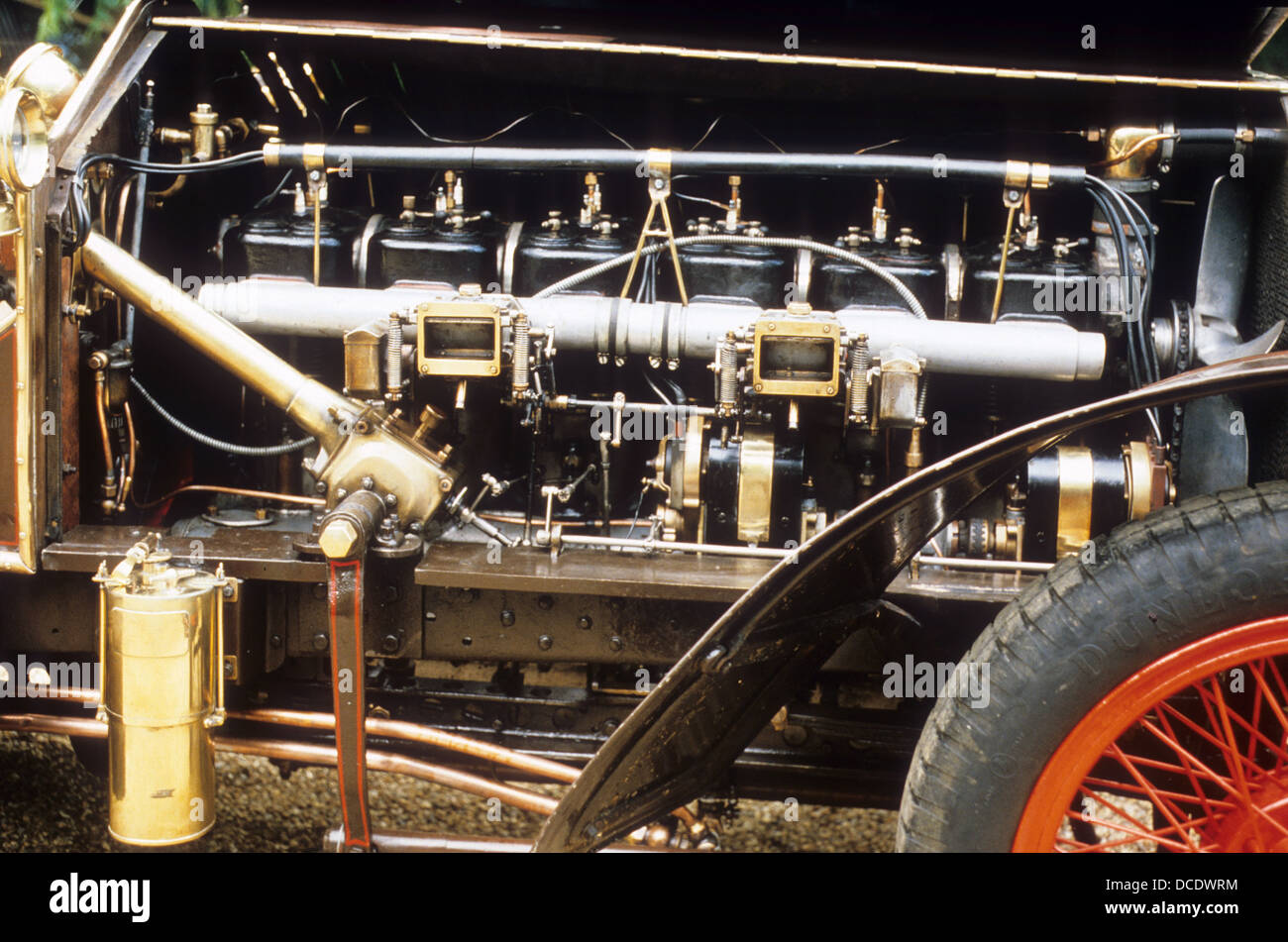 1907 metallurgique maybach engine stock photo  royalty