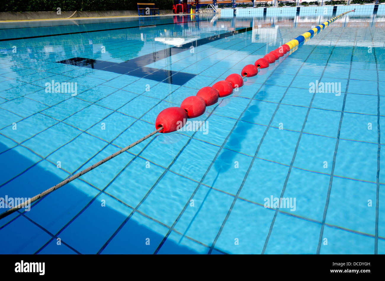 stock photo lane olympic size pool - Olympic Swimming Pool Lanes