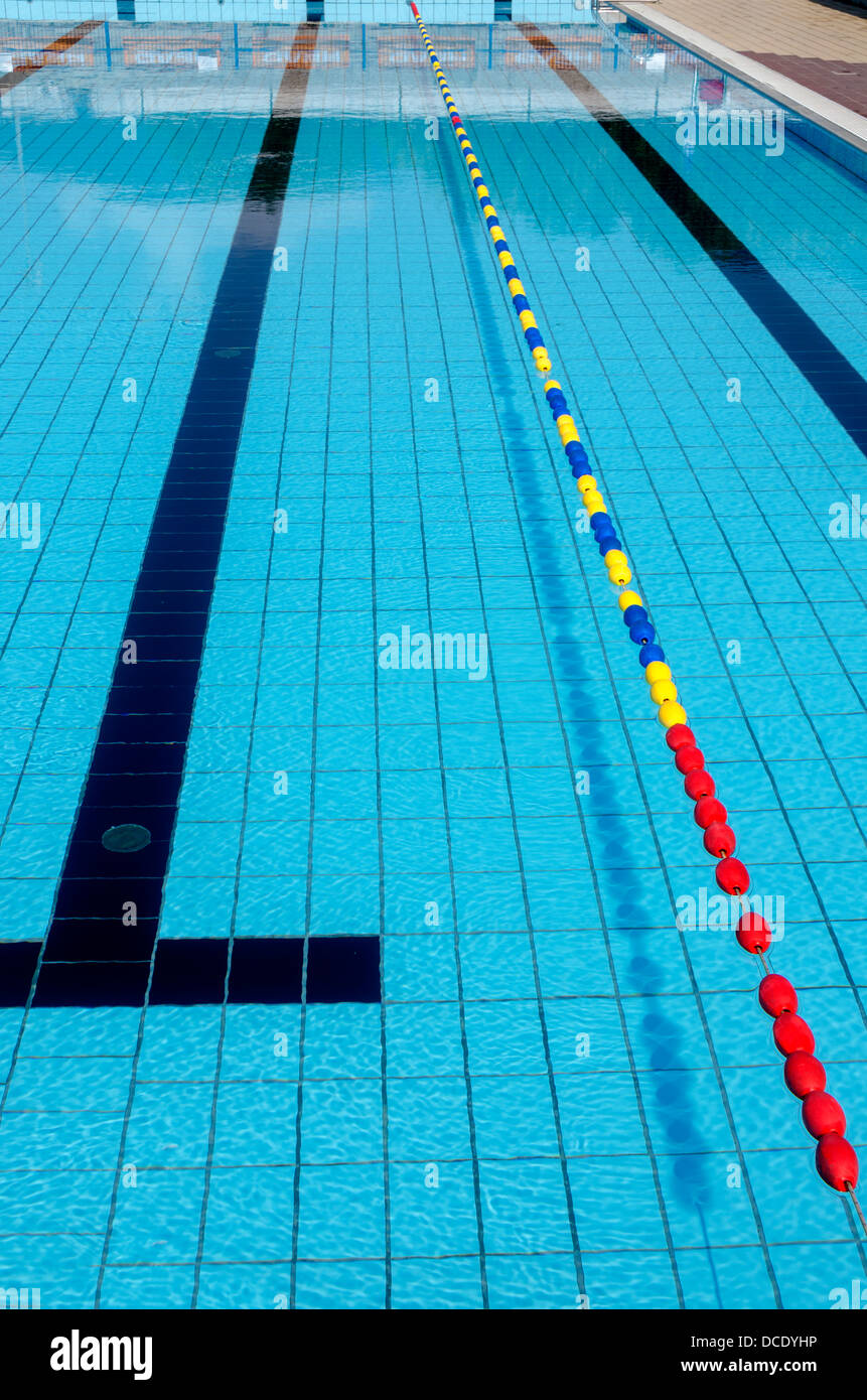stock photo lane olympic size pool