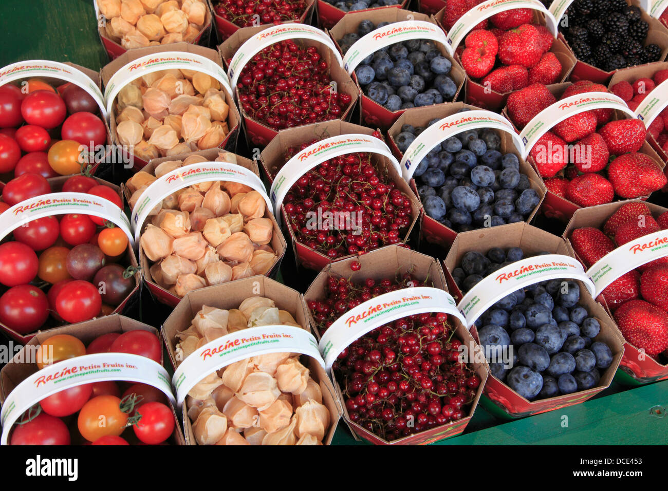 Fruits display jean talon market montreal quebec for Meubles montreal jean talon