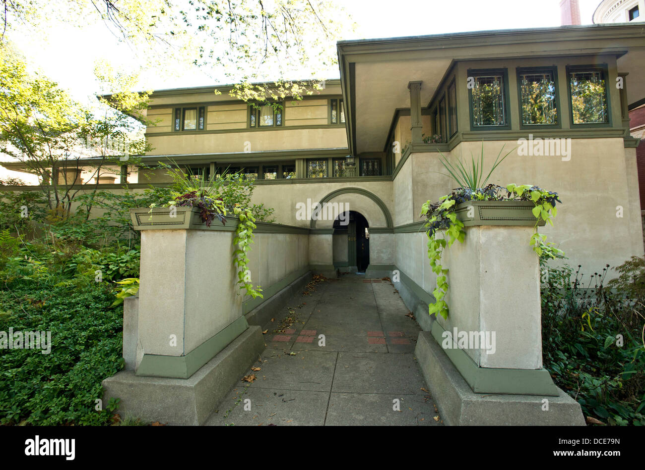 Usa illinois oak park frank thomas house design by for Frank lloyd wright style home