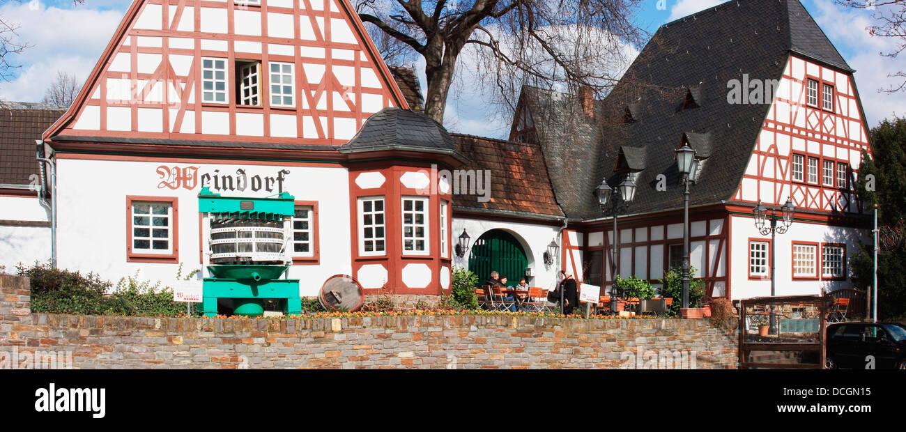 traditional german architecture, koblenz, rheinland-pfalz, germany