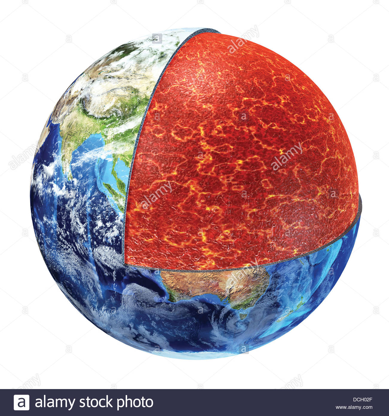 Atmosphere diagram stock photos atmosphere diagram stock images cross section of planet earth showing the upper mantle stock image nvjuhfo Choice Image