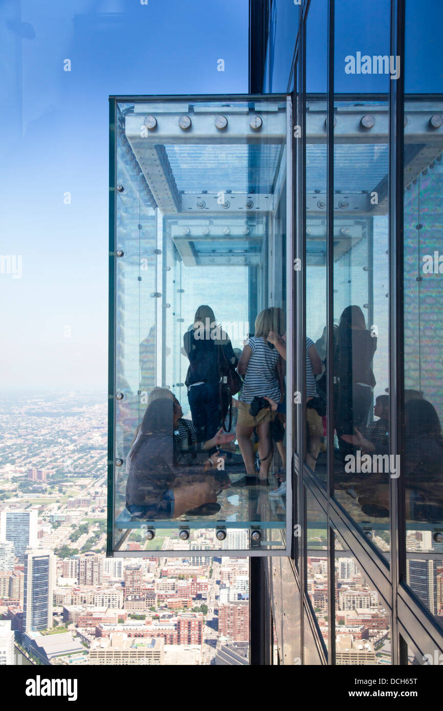 The Willis Tower Formerly Sears Tower Glass Balconies