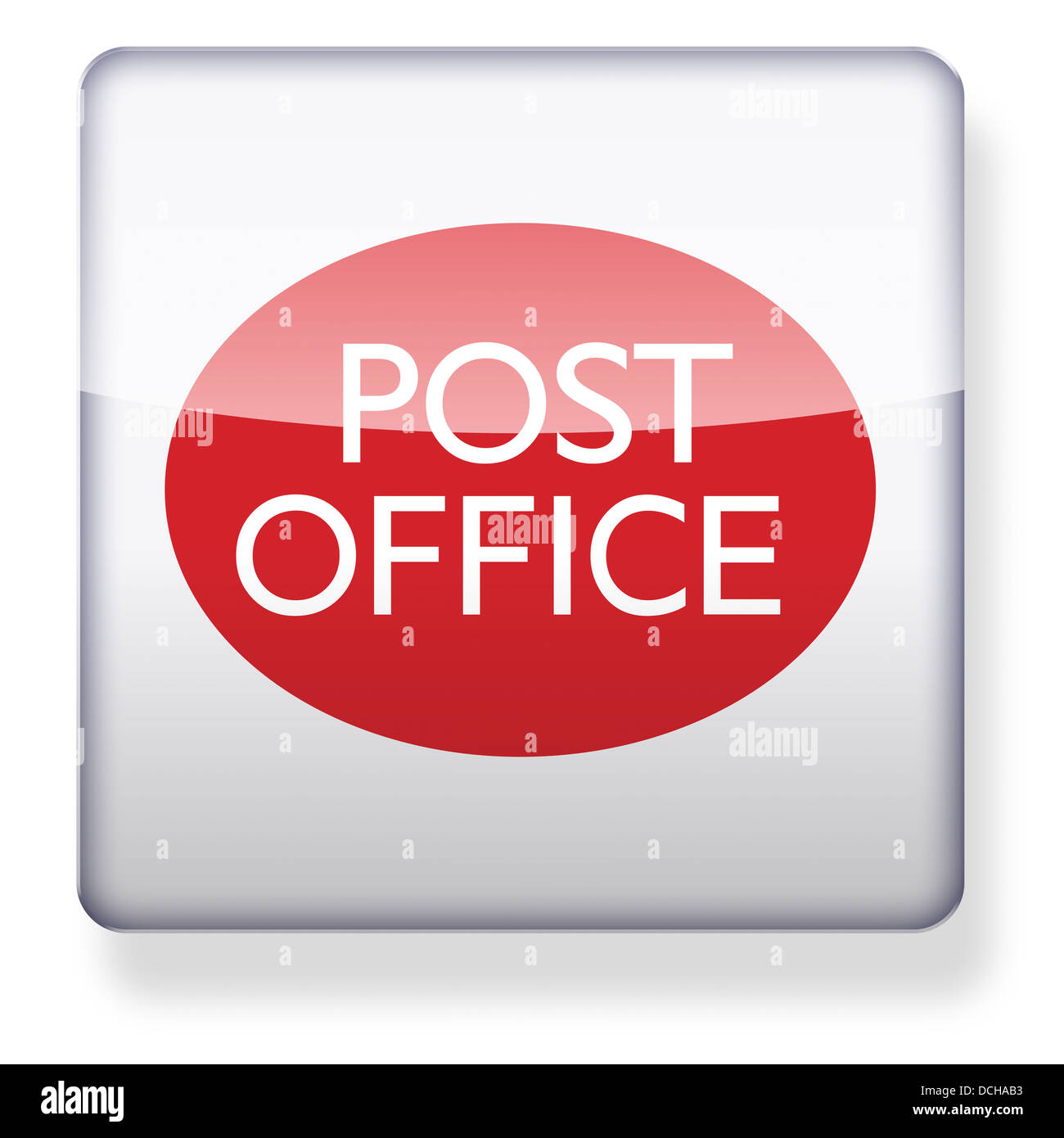 UK Post Office Logo As An App Icon. Clipping Path Included
