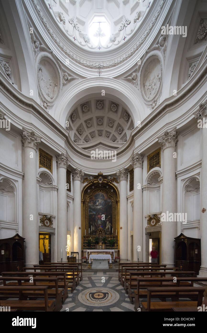 interior, Church of San Carlo alle Quattro Fontane, Rome ...