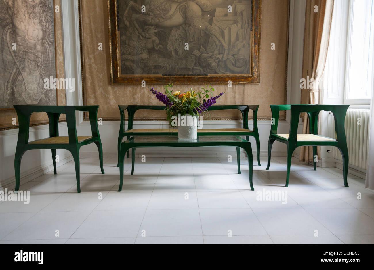 fireplace salon otto wagner villa in hütteldorf vienna austria