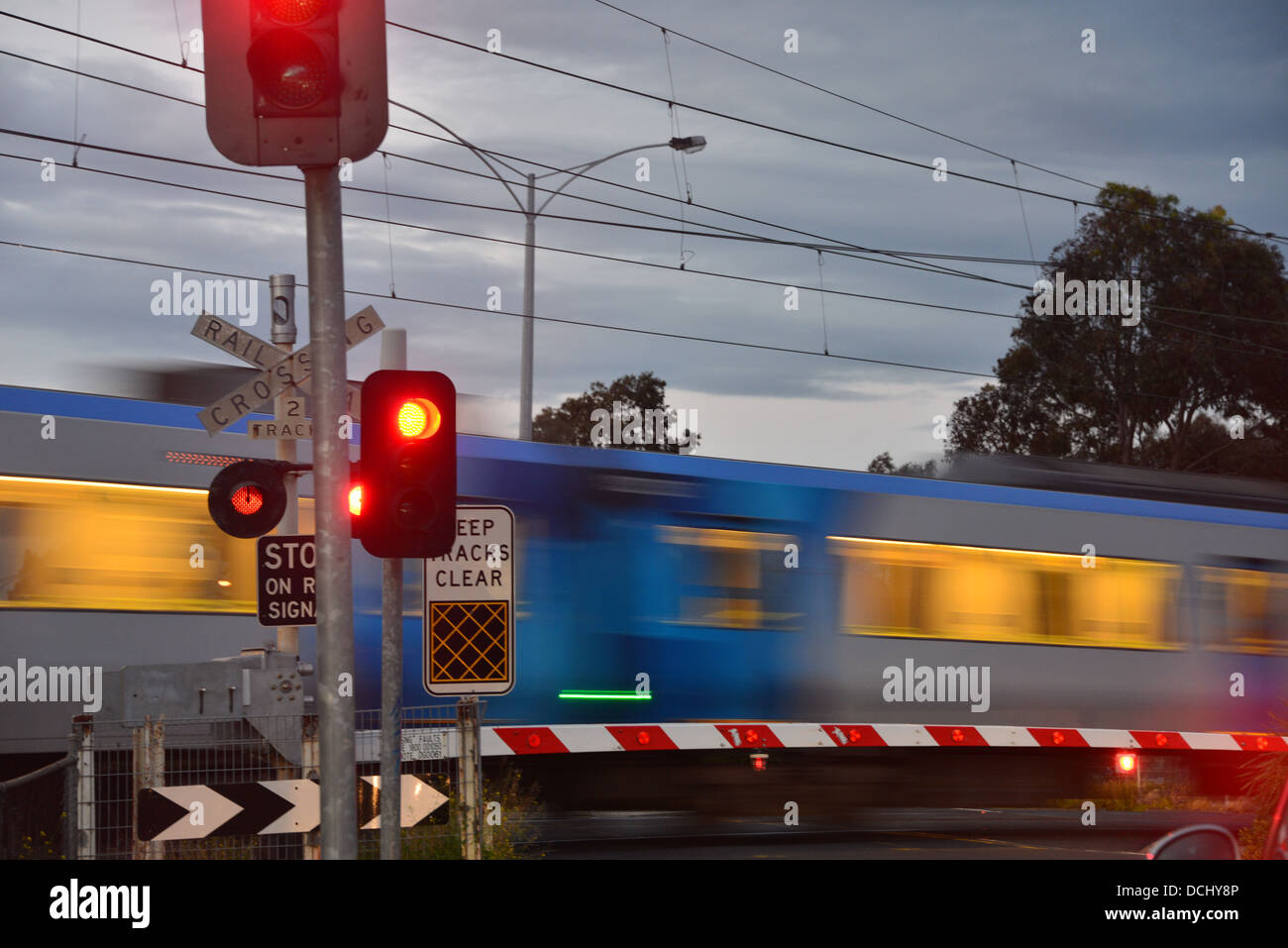 Train going through a rail crossing with the boom gate and stop train going through a rail crossing with the boom gate and stop light symbols arubaitofo Image collections