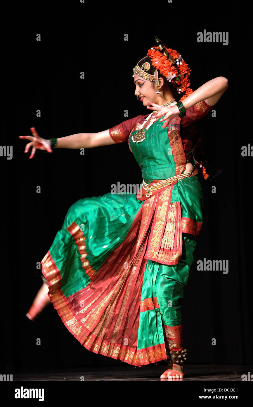 classical Indian dance form young beautiful woman lady girl ...