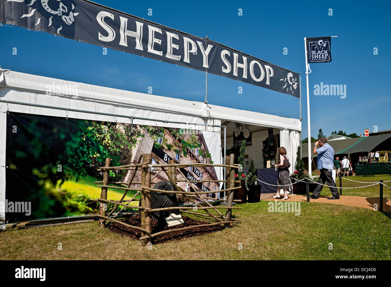 Black Sheep Brewery exhibition tent Great Yorkshire Show Harrogate North Yorkshire England UK United Kingdom GB Great Britain & Black Sheep Brewery exhibition tent Great Yorkshire Show Harrogate ...