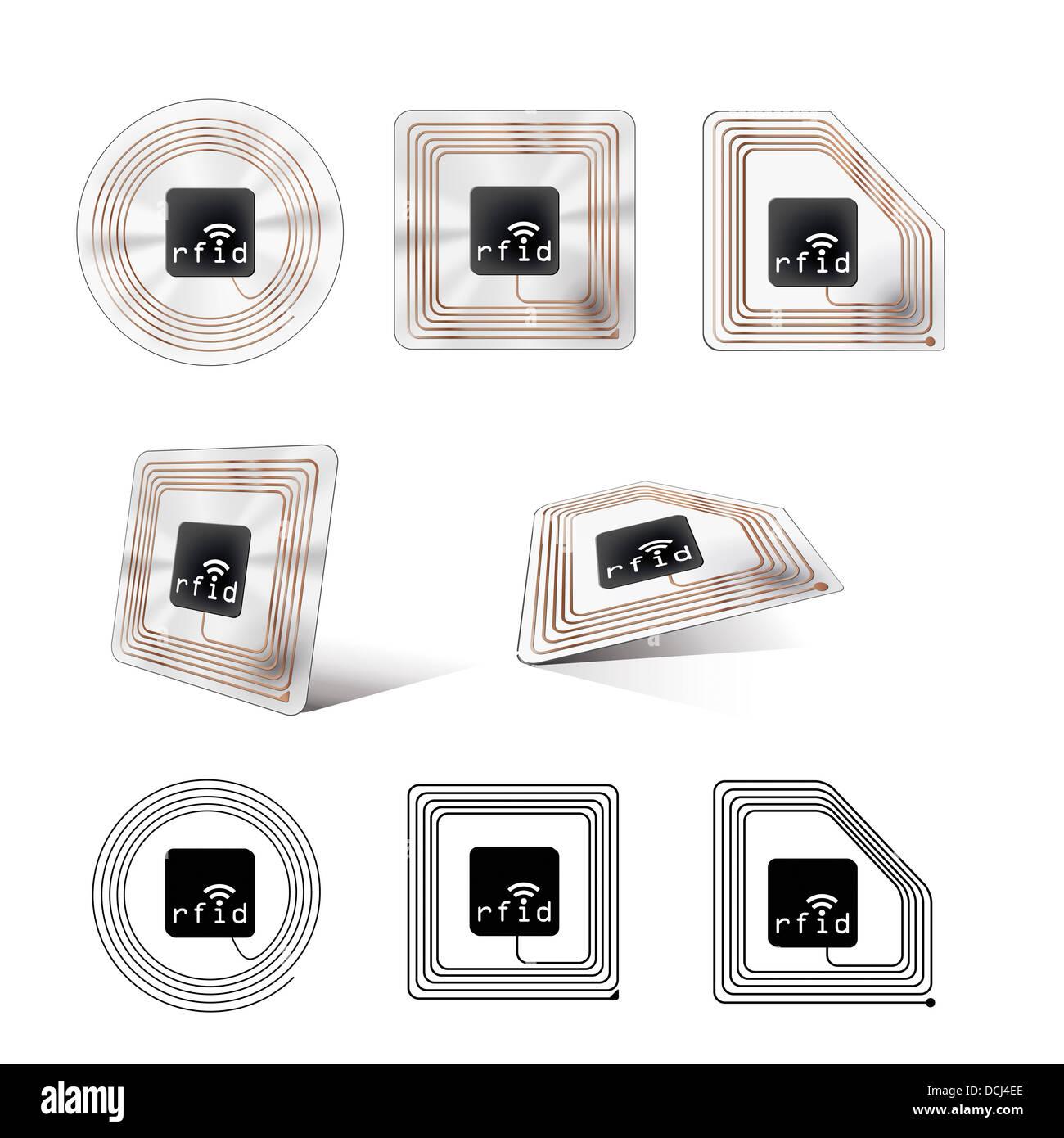 rfid chip stock photo royalty free image 59405654 alamy. Black Bedroom Furniture Sets. Home Design Ideas
