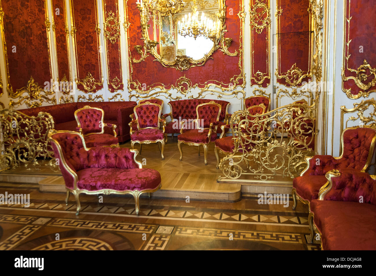 Imperial furniture - Interior Artworks Decor Furniture And Architecture The Hermitage St Petersburg Russia Stock Image