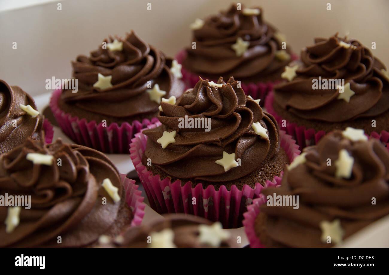 White Chocolate Stars Cake Decoration