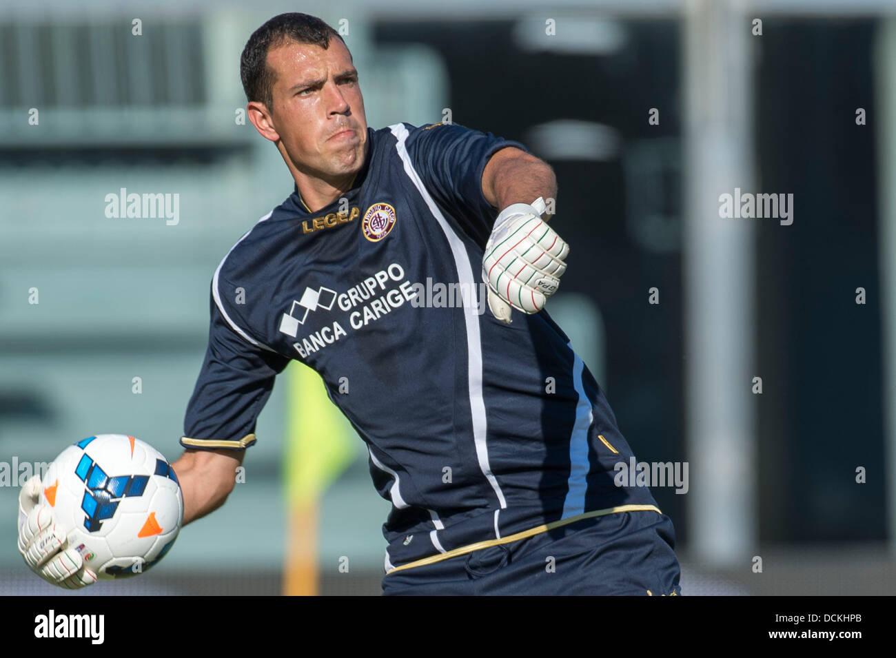 Luca Mazzoni Livorno AUGUST 17 2013 Football Soccer