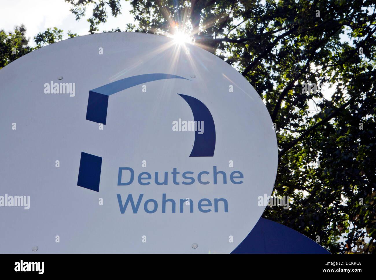 Deutsche Wohnen Com the sun shines the logo of estate company deutsche