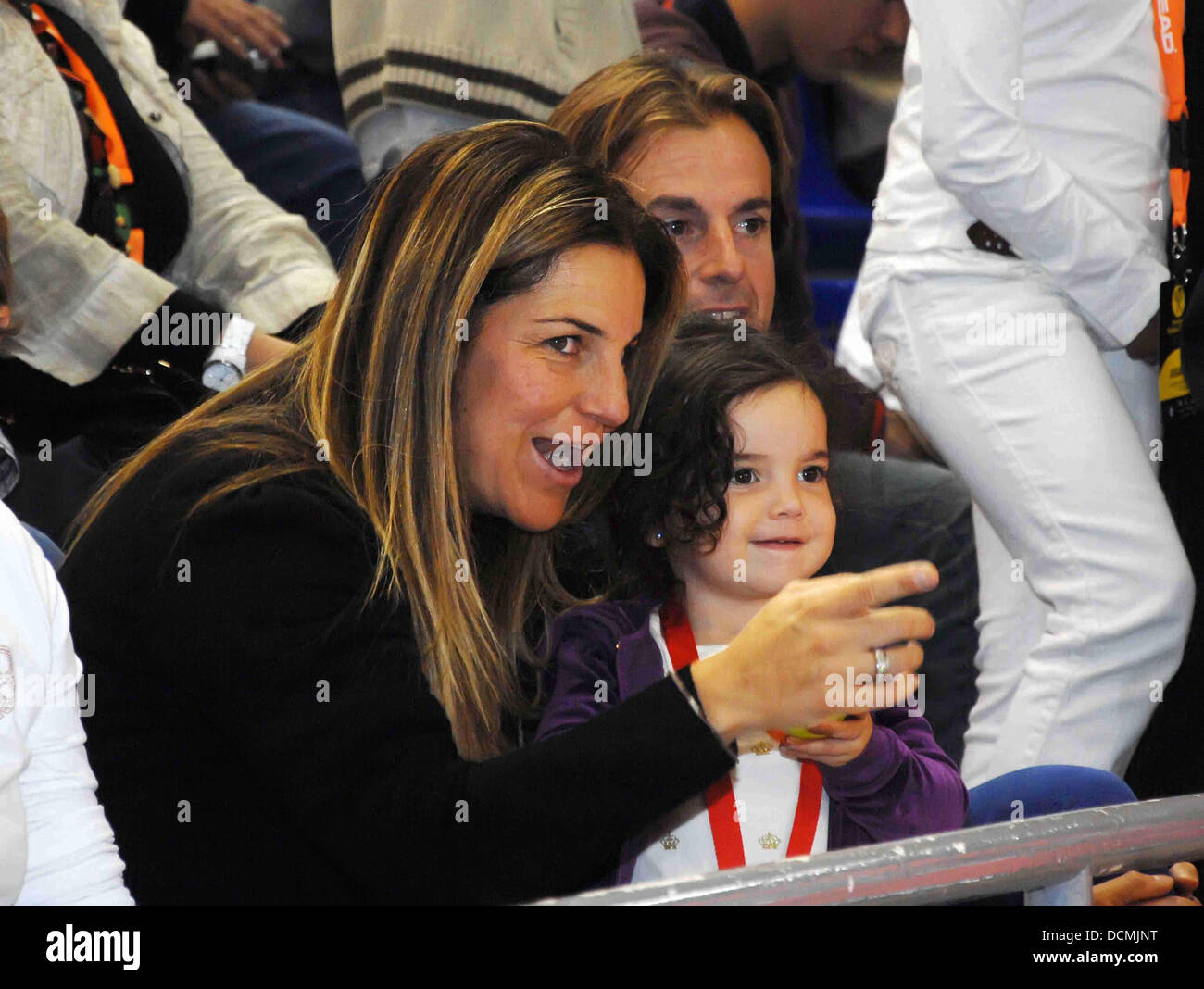 Pregnant Arantxa Sanchez Vicario husband Josep Santacana and