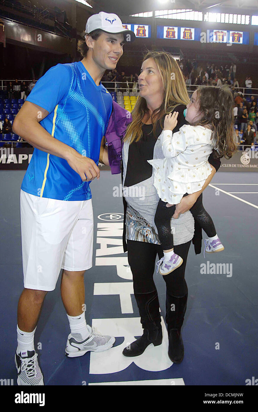 Rafael Nadal Pregnant Arantxa Sanchez Vicario and her daughter