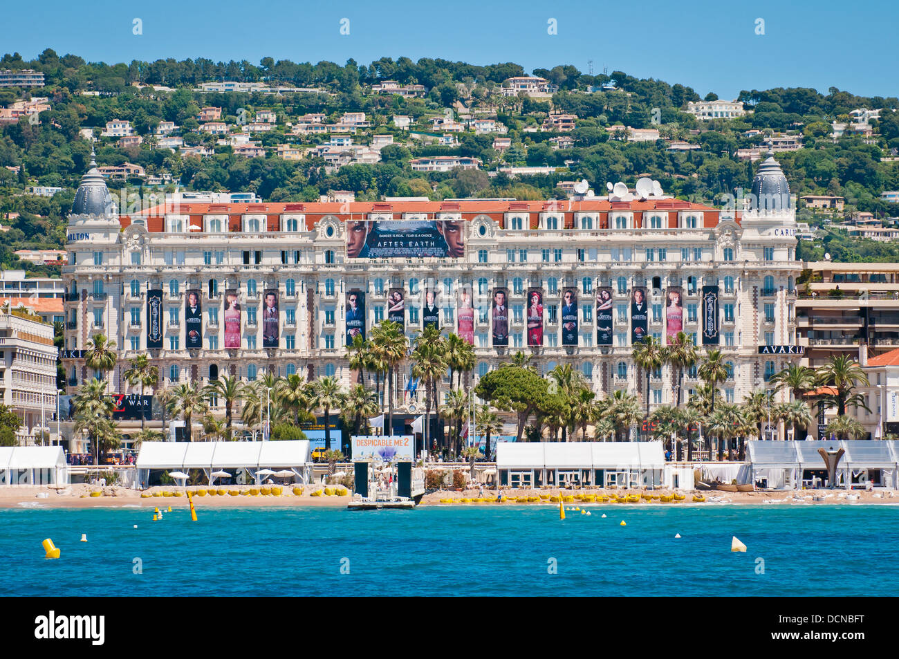 view of cannes cost with famous carlton hotel cannes. Black Bedroom Furniture Sets. Home Design Ideas