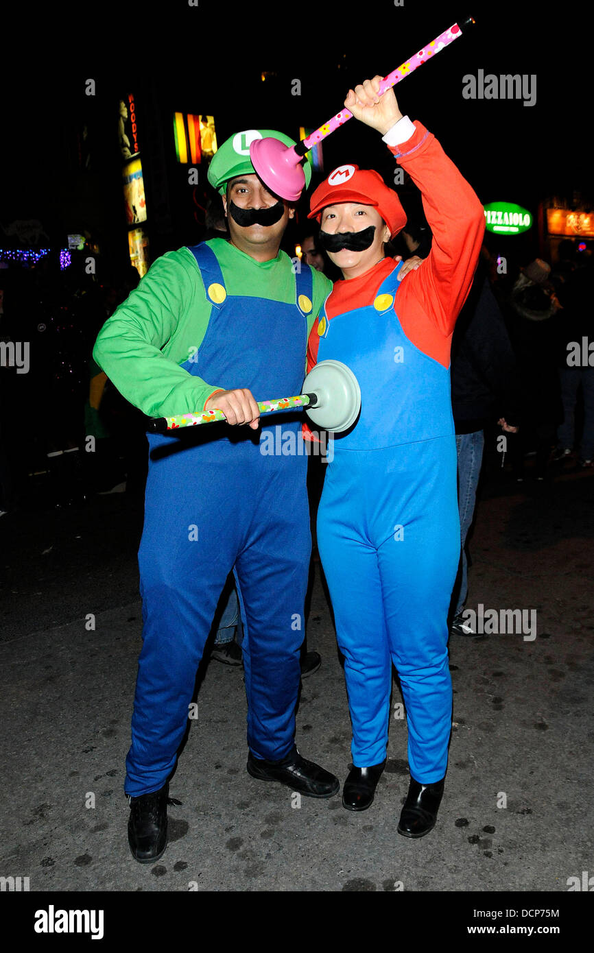 Luigi and Mario costumes Annual Halloween on Church Street - The ...