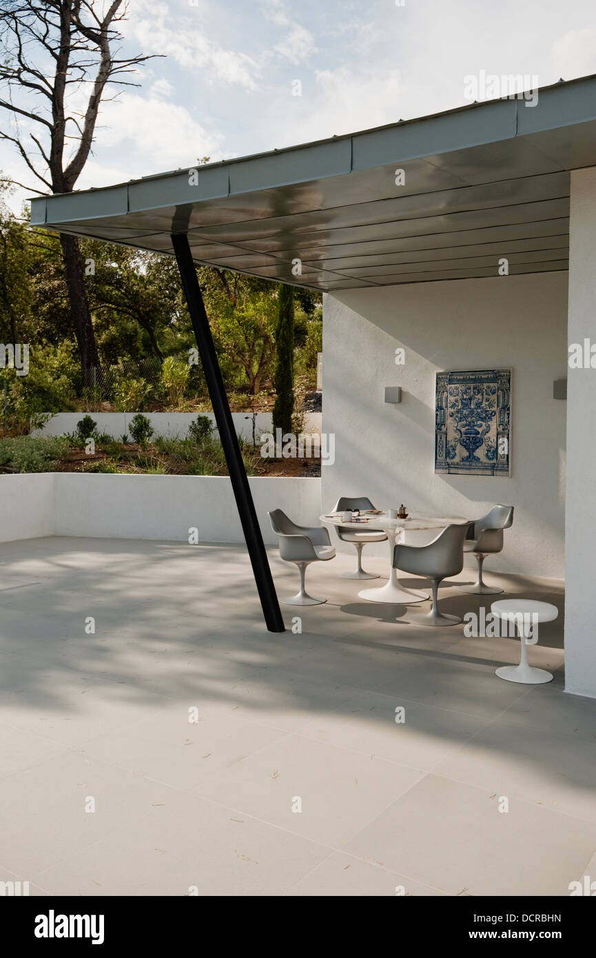 Wonderful Table And Chairs On Balcony Terrace Of Holiday Home In Provence, Designed  And Built By David Price