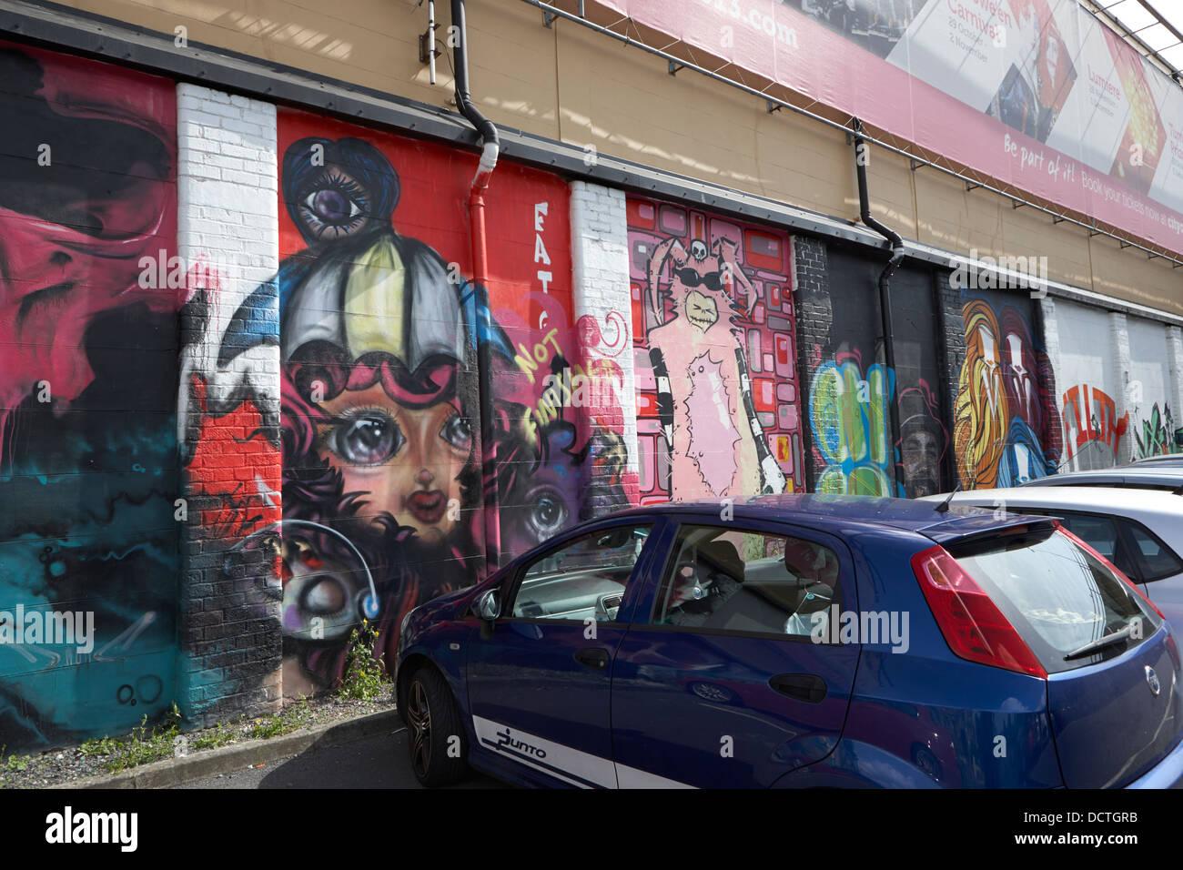 Graffiti wall uk - Stock Photo Graffiti Wall Art In A Public Car Park In Belfast Northern Ireland Uk