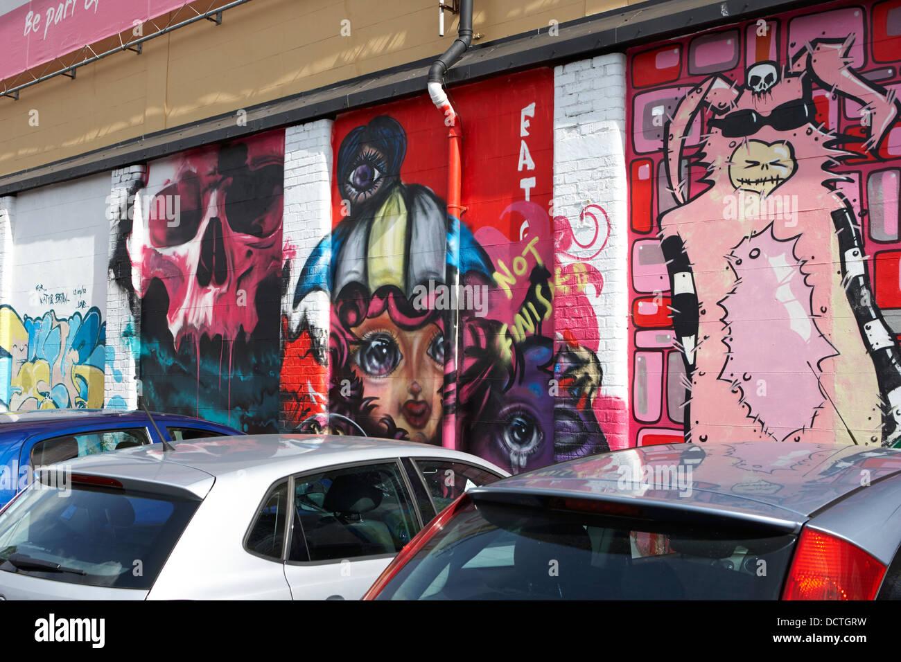 Graffiti wall art uk - Stock Photo Graffiti Wall Art In A Public Car Park In Belfast Northern Ireland Uk