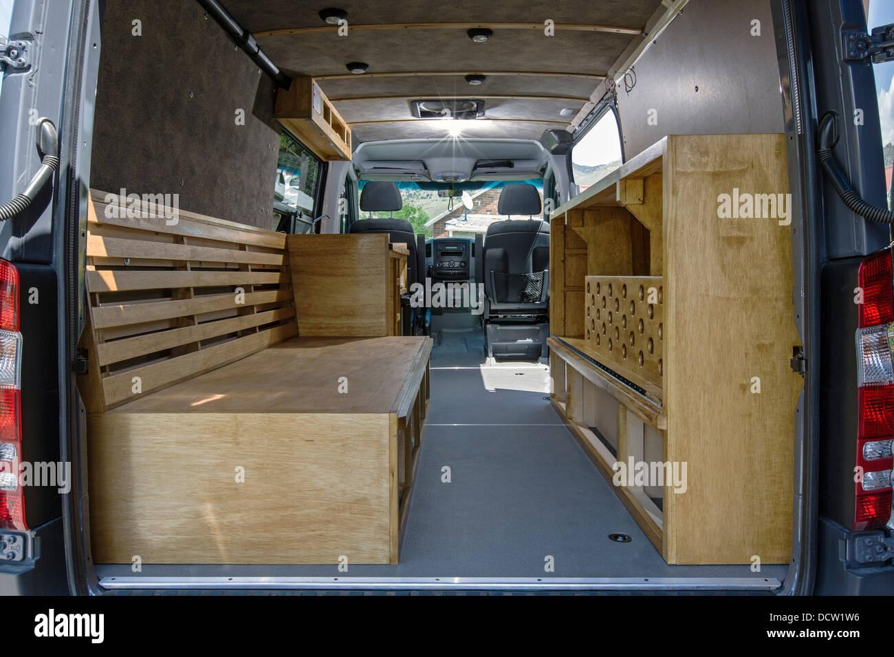 Custom Camper Mercedes Benz Sprinter Cargo Van 2500 Stock