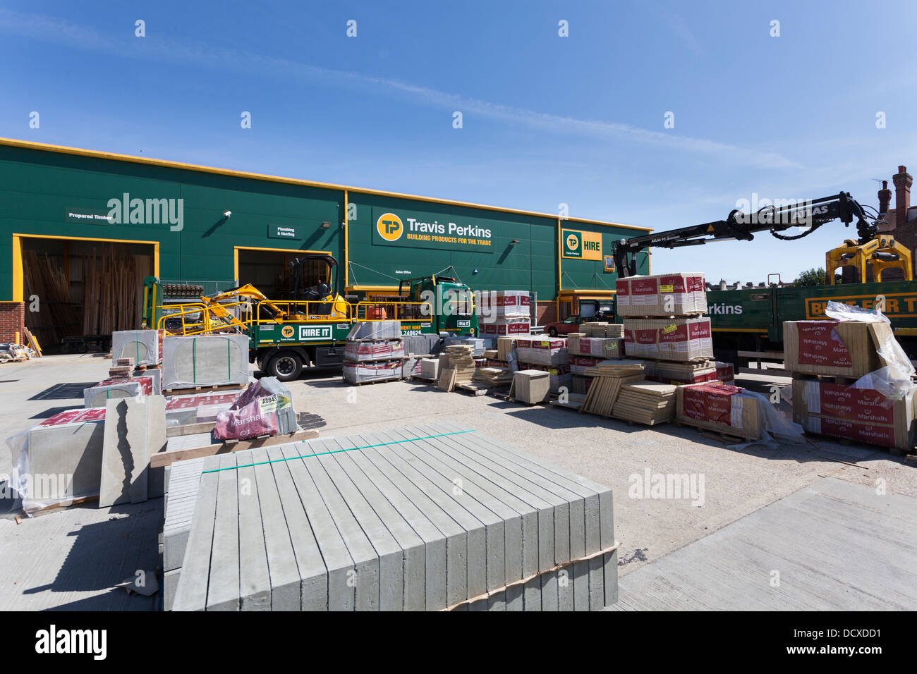 Builders merchant stock photos builders merchant stock images travis perkins littlehampton builders merchant yard stock image baanklon Choice Image
