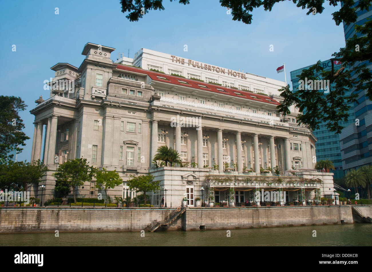 Stock photo the fullerton hotel in the former general post office building singapore