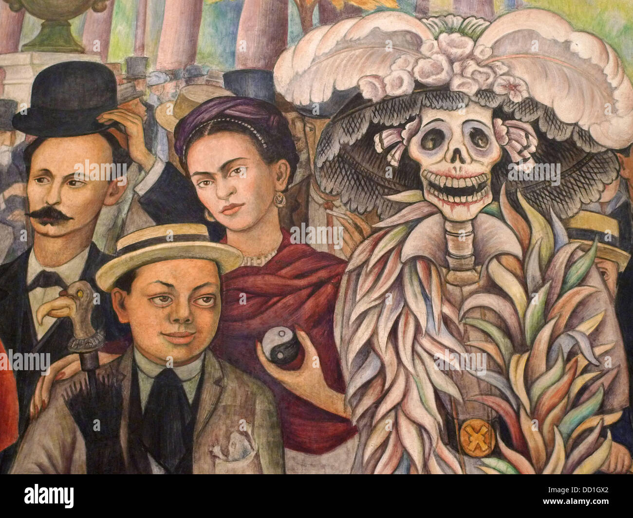 Museo mural diego rivera ciudad de m xico stock photo for Arte mural en mexico