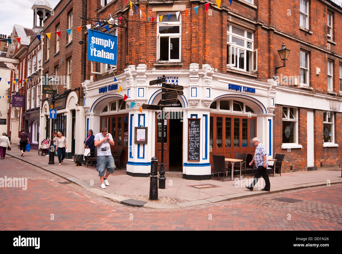 Italian restaurant exterior - Exterior Front View Of A Simply Italian Restaurant Stock Image
