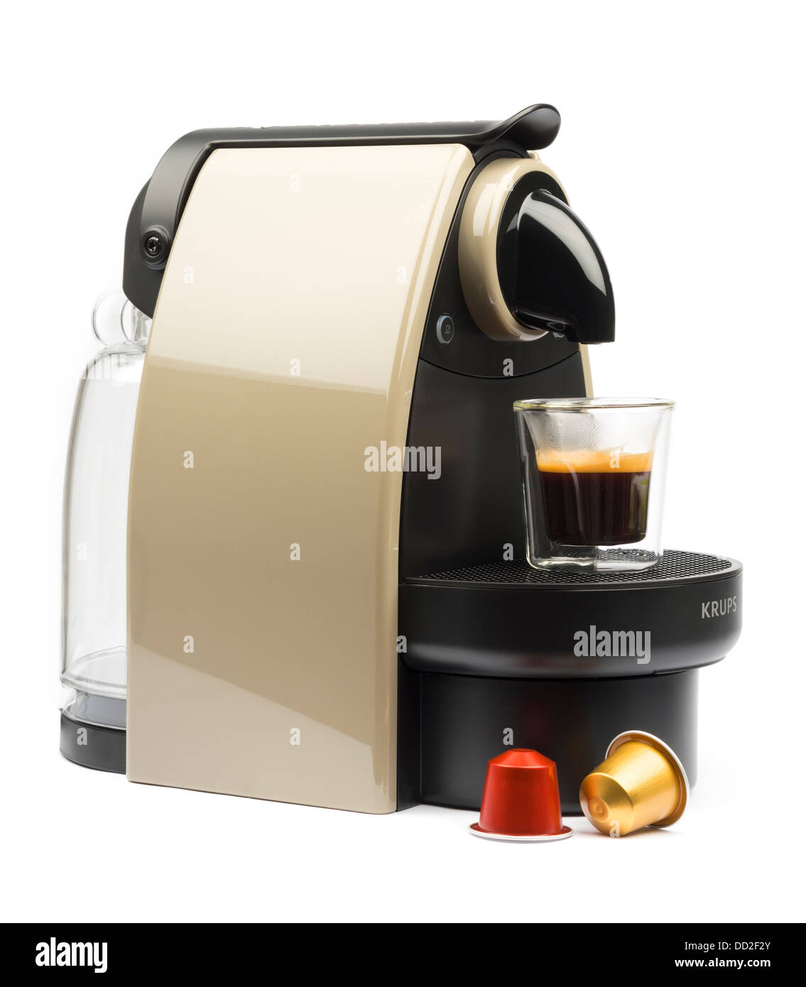 Krups essenza auto xn 2140 earth nespresso coffee machine cut out stock photo royalty free - Machine a cafe krups nespresso ...