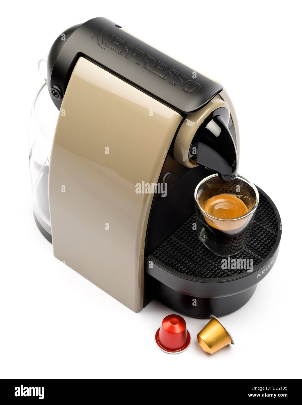 nespresso coffee machine cut out isolated on white. Black Bedroom Furniture Sets. Home Design Ideas