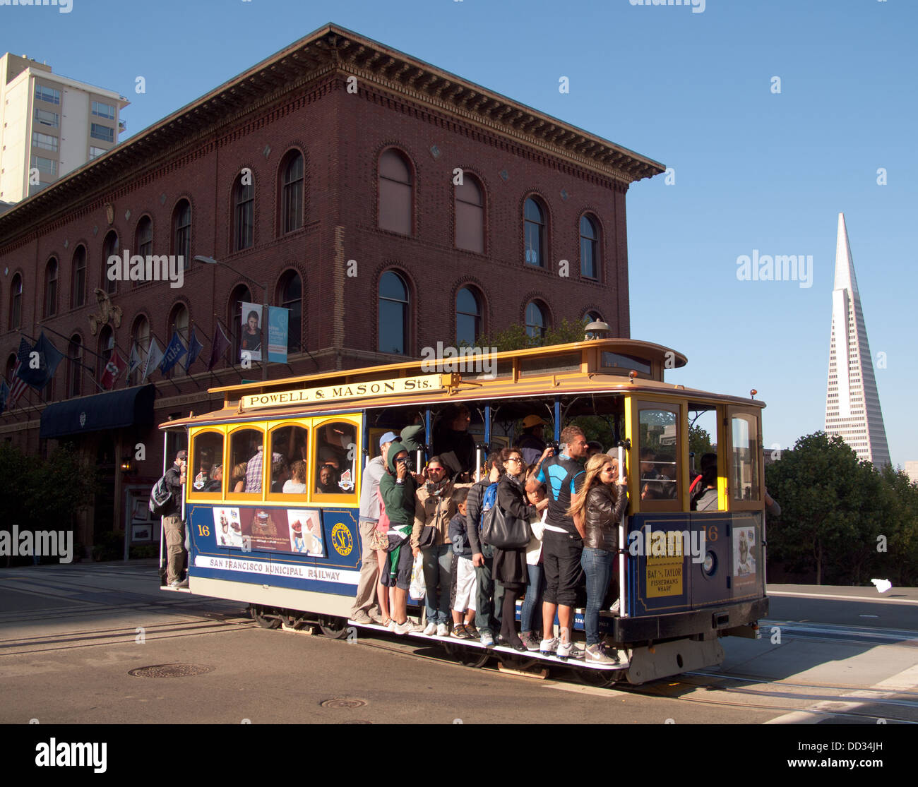 The Powell-Mason Cable Car On Nob Hill With The University