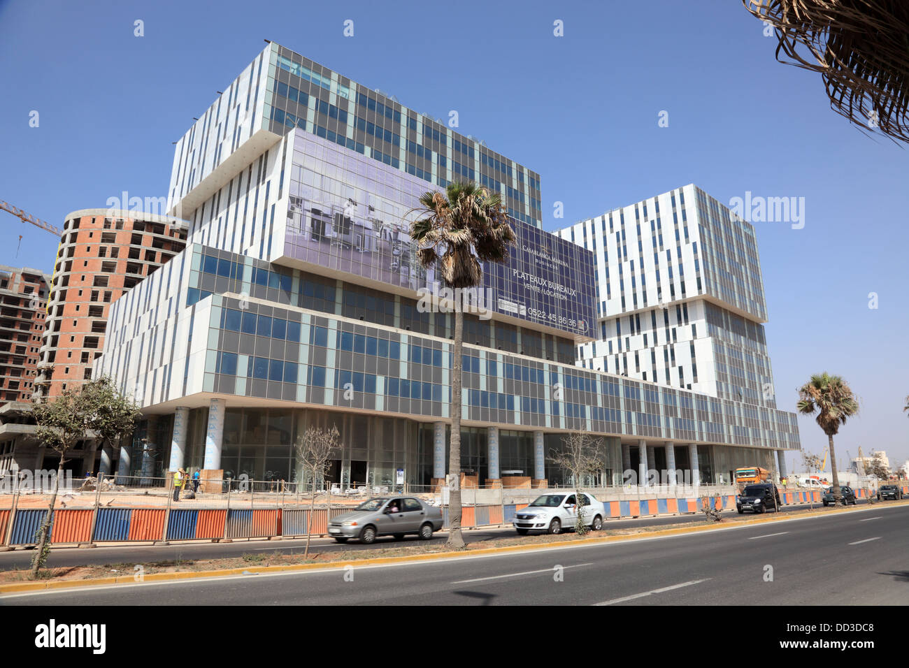 New Modern Office Buildings In Casablanca Marina Morocco
