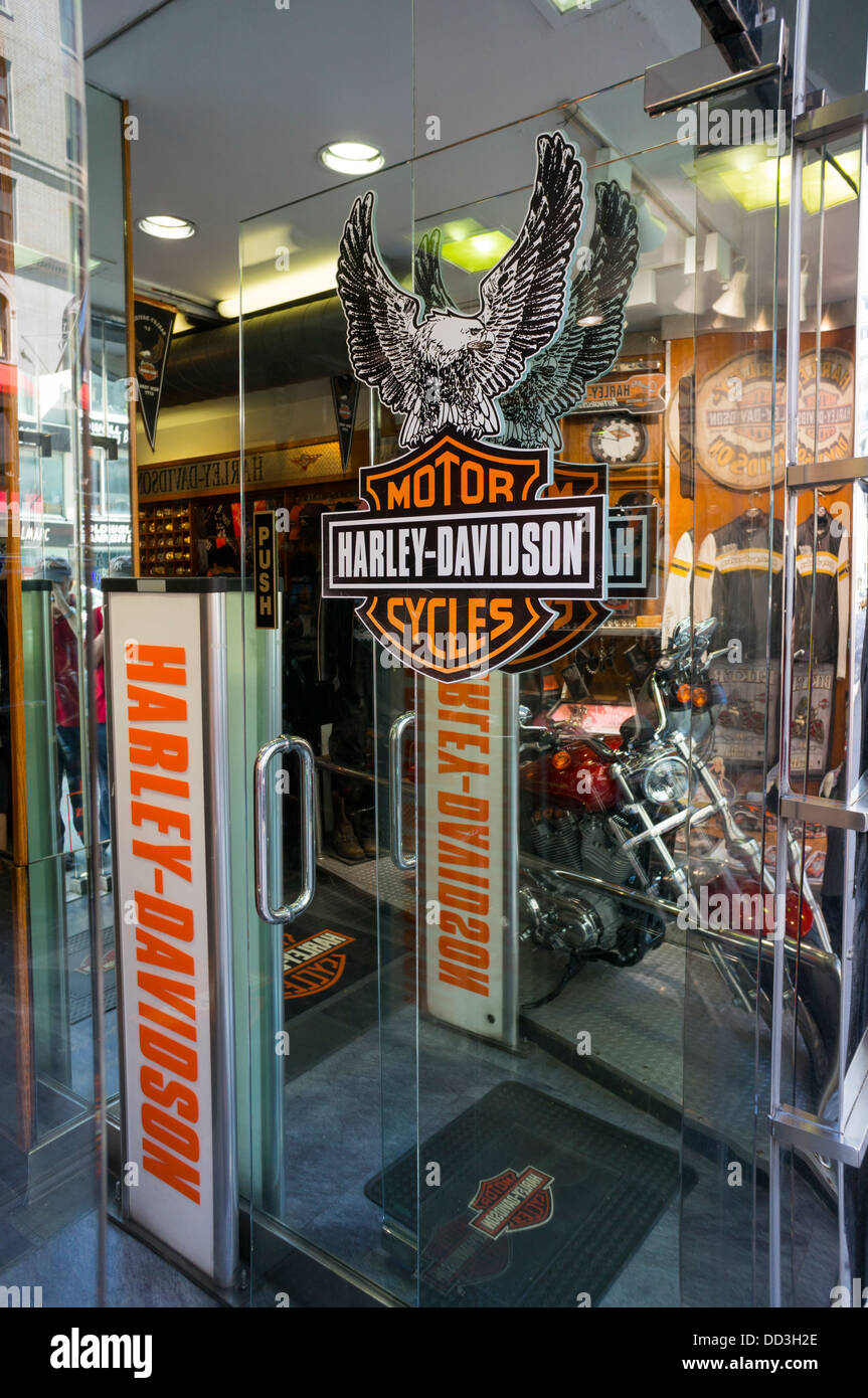 Harley Davidson Apparel Shop In Nyc Stock Photo Royalty